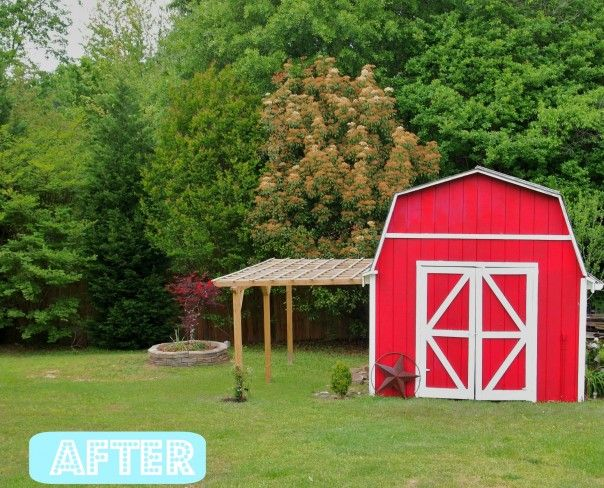 17 best images about shed on pinterest storage shed for Red barn plans
