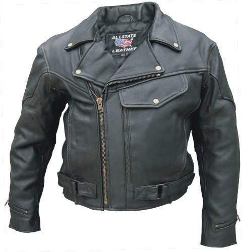 Price $125.00 http://www.srethng.com/al2014-allstate-leather-men-motorcycle-jacket.php   Men Vented M.C.Jacket Buffalo Leather  Allstate Leather AL 2014 Buffalo Leather Premium Motorcycle Jacket. Men's Vented jacket with braid trim, pockets & full sleeve zipout liner. Antique Brass Hardware (Buffalo Leather). This is quality buffalo leatherjacket, it is made from the best buffalo hide available. This quality jacket will keep the wind off and the protection you would expect from quality…