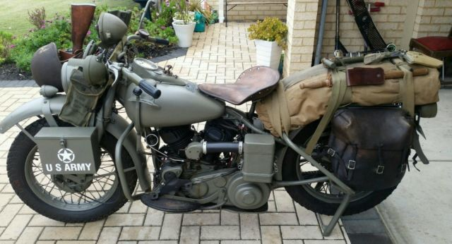 harley davidson wla 1942 harley 45 for sale byford wa. Black Bedroom Furniture Sets. Home Design Ideas