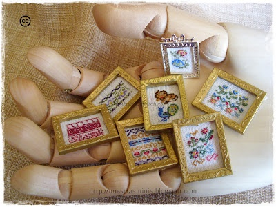 Ponto cruz em um quadrinho.: Bordado Miniatura, Stitches Frames, 1 12 Scale, House Miniatures, Cross Stitch, Crosses Stitches, Stitches Stuff, Muebles Miniatura Furniture, Miniatures Stitches