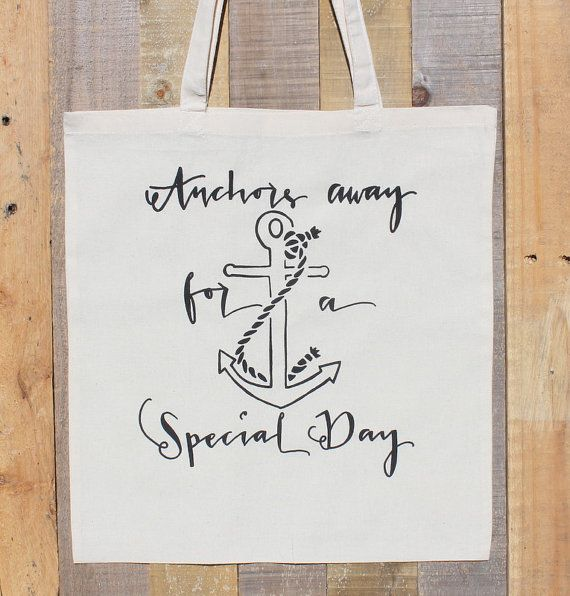 Cruise Ship Wedding Anchor Tote Bag by DreamState on Etsy