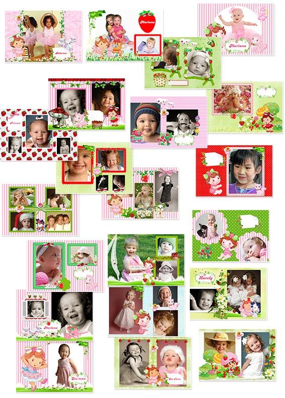 Fotolivro Moranguinho com 21 páginas pronto para personalizar com suas fotos!