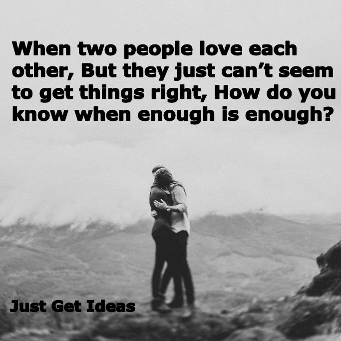 People That Love Each Other: When Two People Love Each Other, But They Just Can't Seem