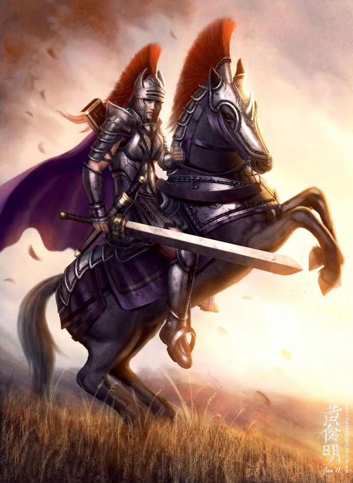 Human knight - you've got to admit: humans are pretty cool, regardless of what other fantasy races say...