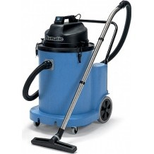 The WVD1800DH has a dump hose allowing for quick and easy emptying into drains. http://www.averncleaningsupplies.com/Cleaning_Machines/Wet-and-Dry-Vacuum-Cleaners/WVD1800DH-Industrial-Wet-Vacuum-Cleaner-Numatic