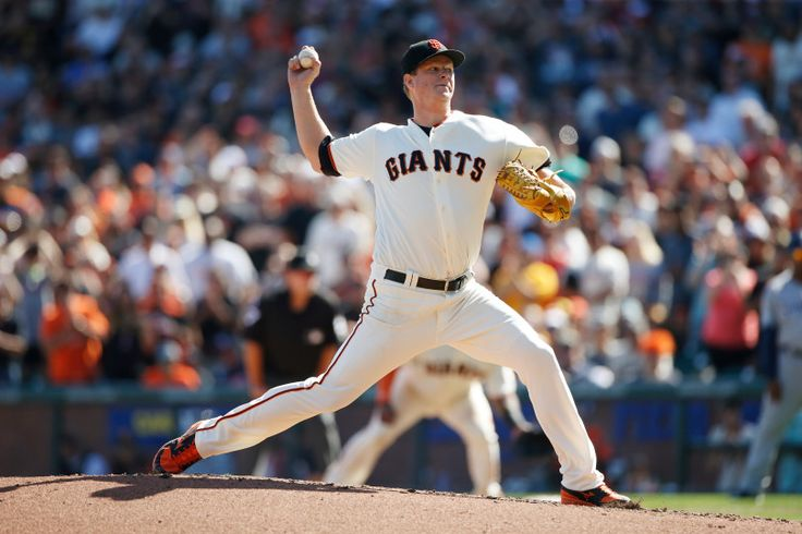 Matt Cain throws five shutout innings in emotional Giants finale San Francisco Giants starting pitcher Matt Cain (18) throws the last pitch of his career in the fifth inning at AT&T Park on Saturday, Sept. 30, 2017, in San Francisco, Calif. (Jim Gensheimer/Bay Area News Group)