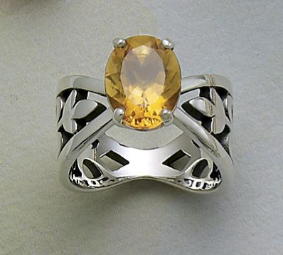 Adorned Floral Ring with Citrine from James Avery Jewelry | secure.jamesavery.com