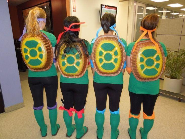 Make a Ninja Turtle Costume   Teenage Mutant Ninja Turtles Shell Diy Tmnt costume. homemade turtle