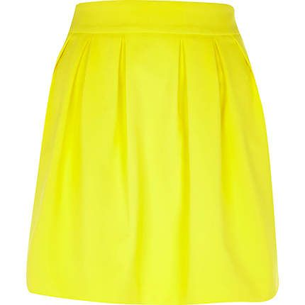 Yellow structured mini skirt $50.00...possible bridesmaid skirts
