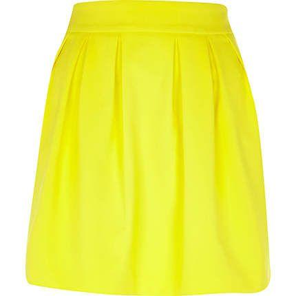 Yellow structured mini skirt £25.00