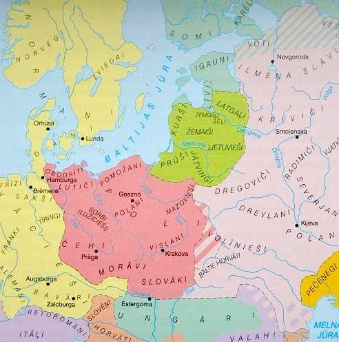 Baltic and other tribes in north central Europe, 9-11 century.