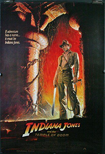INDIANA JONES & THE TEMPLE OF DOOM, Original Rolled Wolfe style Movie Poster @ niftywarehouse.com