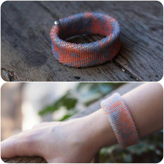 Wonderful geometric braselet Beadweave bracelet bead