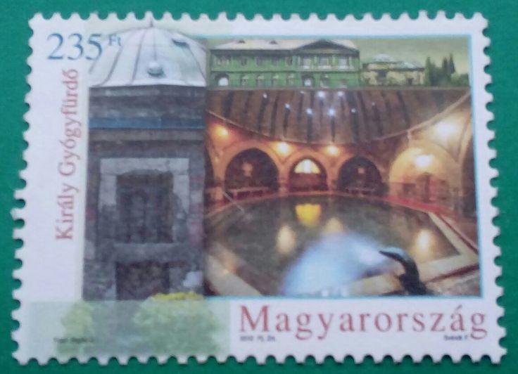 "Stamp 2012 ""Király Thermal Bath"", Hungary"
