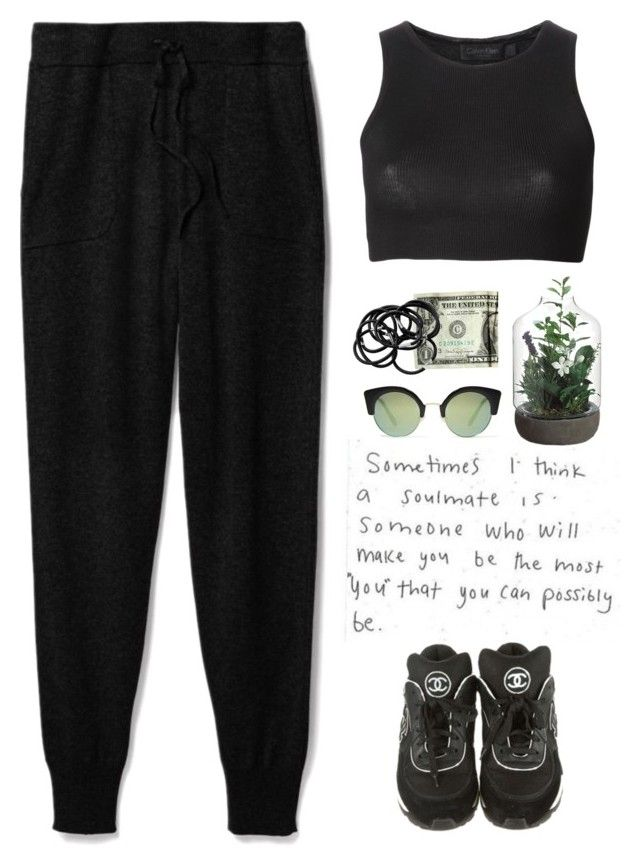 """""""- Black Cofee -"""" by lolgenie ❤ liked on Polyvore featuring Theory, Chanel, Calvin Klein Collection, Cheap Monday, H&M, polyvorecommunity, polyvoreeditorial and Lolgenie"""