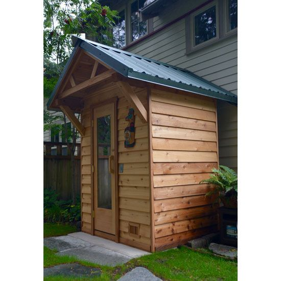 5'x6' Outdoor Sauna Kit + Heater + Accessories