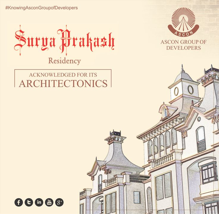 One of our milestone projects SURYA PRAKASH known for its extraordinary architecture. #AsconRealty‬ ‪#Ascon‬ ‪#RealEstate‬