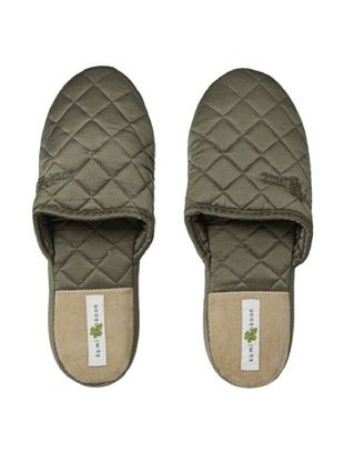 47% OFF Kumi Kokoon Quilted Silk Slippers (Shitake)