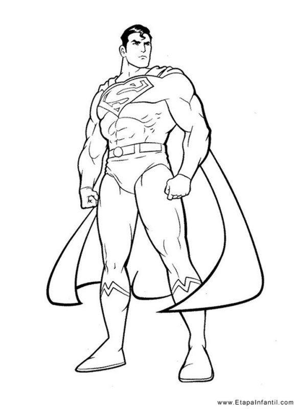 Dibujos De Superman Para Colorear Drawing Superheroes Superhero Coloring Pages Superman Drawing