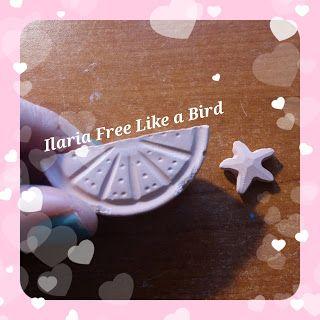 Primi tentativi di gessetti profumati (questi sono all'arancia) - Ilaria Free Like a Bird