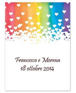 Matrimonio tema arcobaleno, ispirato alla pace...