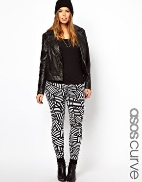 Image 1 of ASOS CURVE Legging In Graphic Print