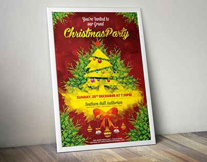 """Check out new work on my @Behance portfolio: """"Christmas Party Invitation Flyer/Poster"""" http://be.net/gallery/46199213/Christmas-Party-Invitation-FlyerPoster"""