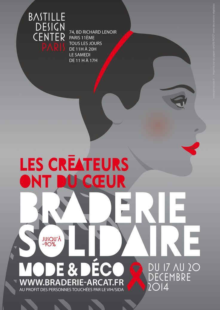 affiche Braderie Arcat  hiver 2014