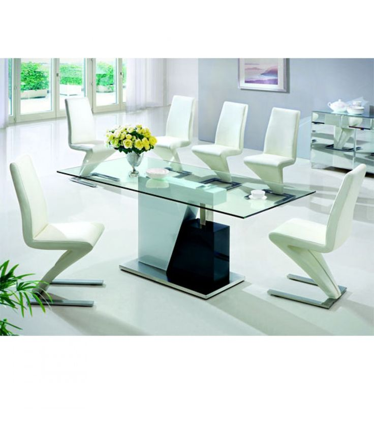 Actona Glass Dining Table And 4 Chairs Set Actona Glass Dining