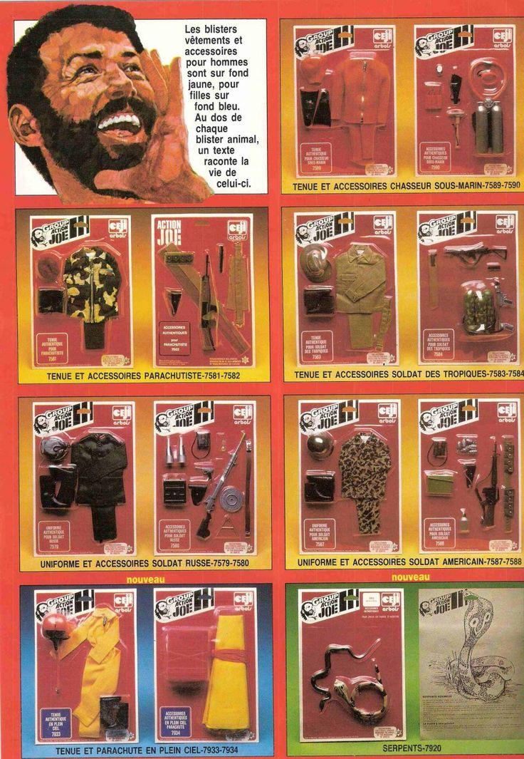 Vintage Action Joe Toy Action-Figure Doll Uniform/Clothing/Gear sets