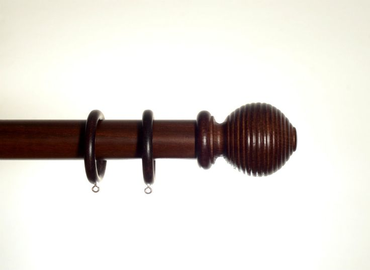 Ryan Wallcoverings Ltd - Walnut Wooden Curtain Pole 50mm Rigato, €121.00 (http://www.ryanwallcoverings.com/walnut-wooden-curtain-pole-50mm-rigato/)