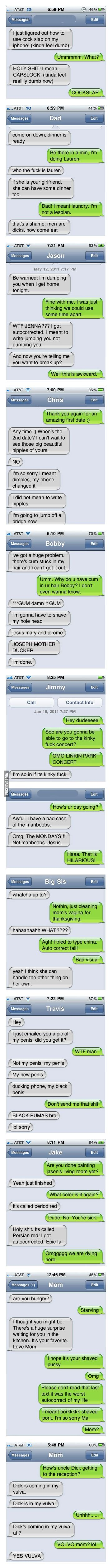Funniest Auto-Corrects Of 2011