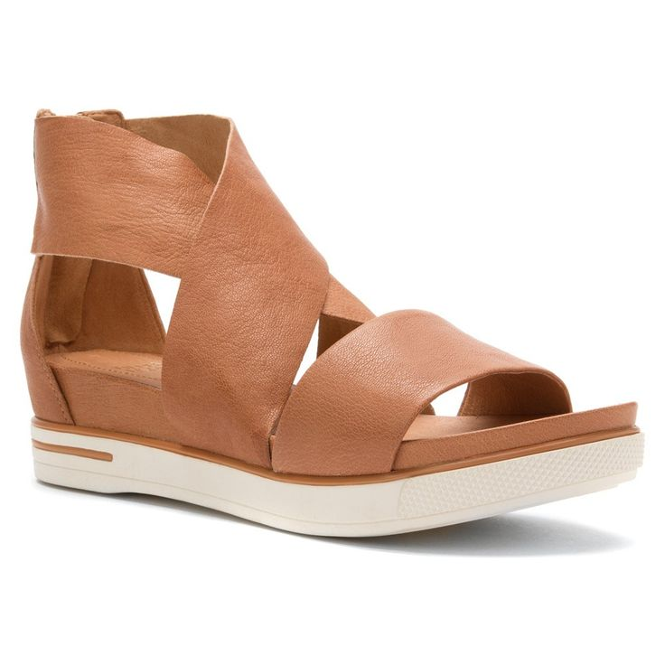 #EileenFisher Women's Sport Sandals camel leather