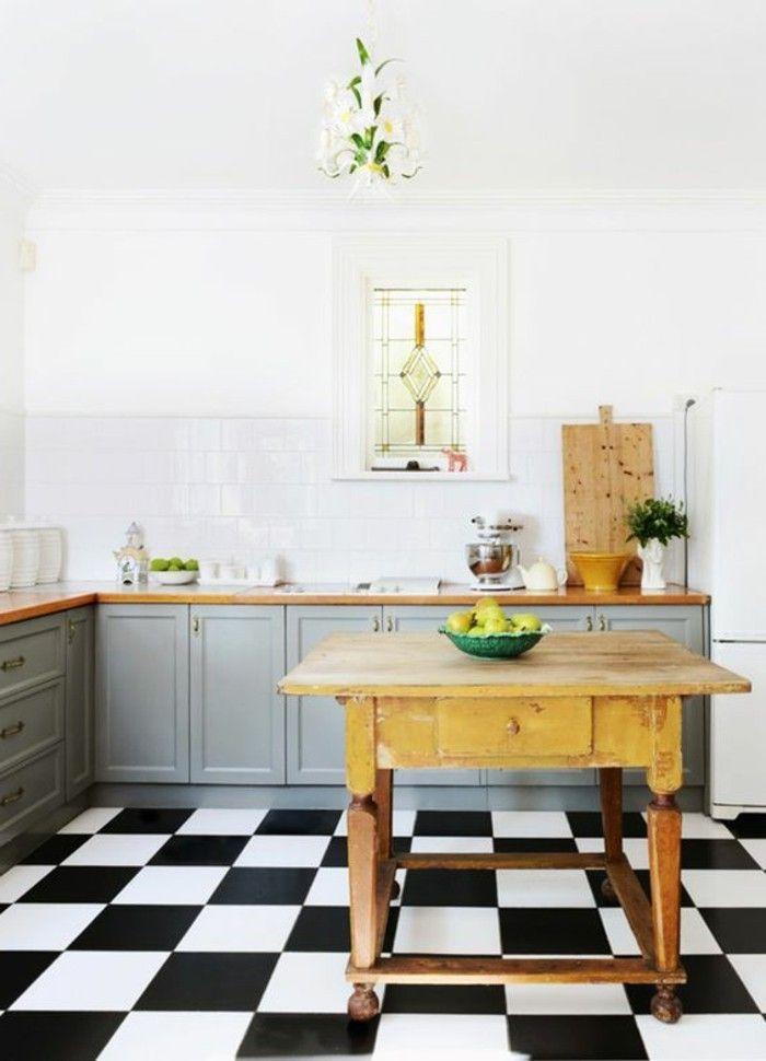 Le Carrelage Damier Noir Et Blanc En 78 Photos Cuisines Design