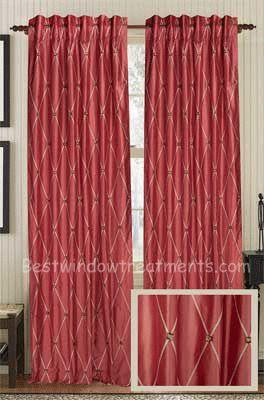 Impulsive Diamond Silk Curtain Panel | Best Window Treatments
