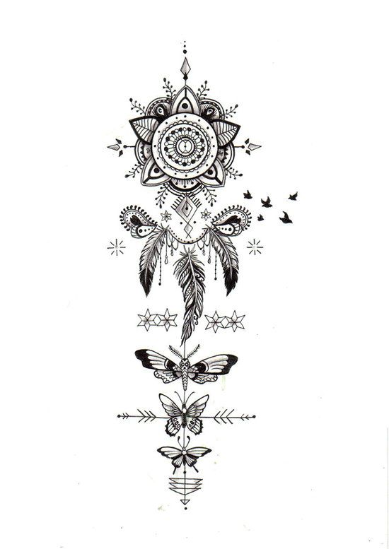 Ultra-book de amelieferrero Portfolio : Illustrations personnelles : recherche tatouage perso