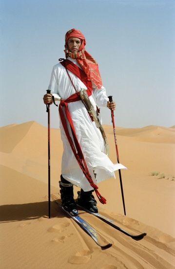 Ski in the desert...: