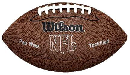 Wilson NFL MVP Pee Wee Football, Brown - http://nfledge.net/wilson-nfl-mvp-pee-wee-football-brown/ - Wilson NFL MVP Pee Wee Football Wilson NFL MVP Pee Wee Football is made of composite leather. It features a soft sponge rubber cover for enhanced durability. Plus, this waterproof cover lets young players play the game on any surface. FeaturesMade of composite leatherSponge rubber coverWaterproof material withstands any surface Product Features  NFL MVP Pee Wee Football Soft s