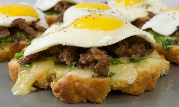 Open-Faced Fried Egg and Sausage Sandwich | 19 Breakfast Sandwiches That Will Change Your Life