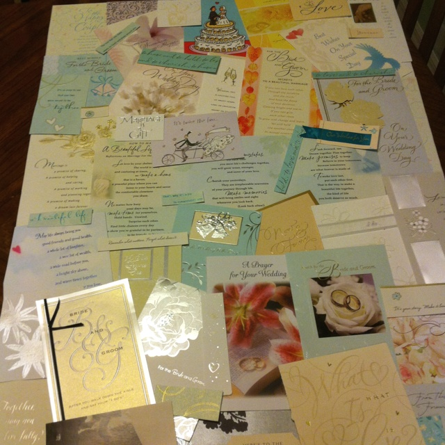 Wedding card collage & frame