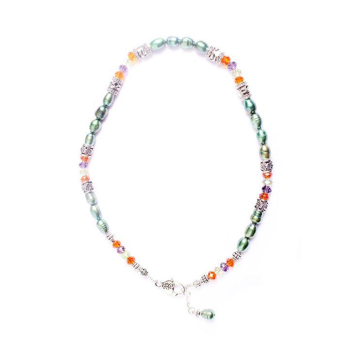 Perlas de Río Verde Cristal Multicolores, MCN Joyas, $12.500.