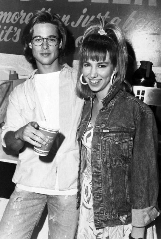 Brad Pitt and Debbie Gibson, 1988.