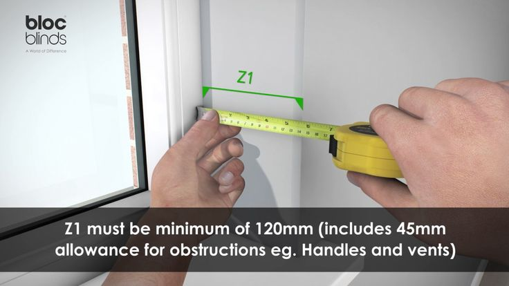 How to measure for a Pelmet Roller Blind which is to be recess mounted