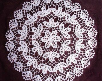 Tablecloth round fillet crochet filet crochet cotton lace of lace lace Shabby Chic cotton cotton