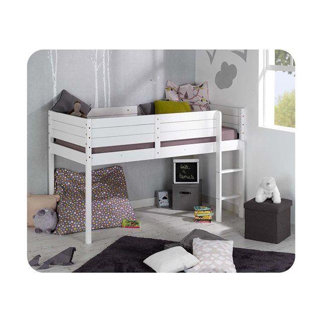 17 meilleures id es propos de lit mi hauteur sur pinterest coin t te de l - Lit mi hauteur metal ...