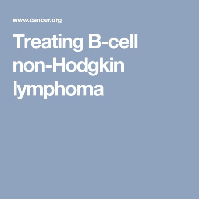 Treating B-cell non-Hodgkin lymphoma