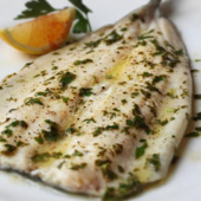 Broiled Rainbow Trout with Lemon Parsley Brown Butter Sauce.  Easy and delish!!