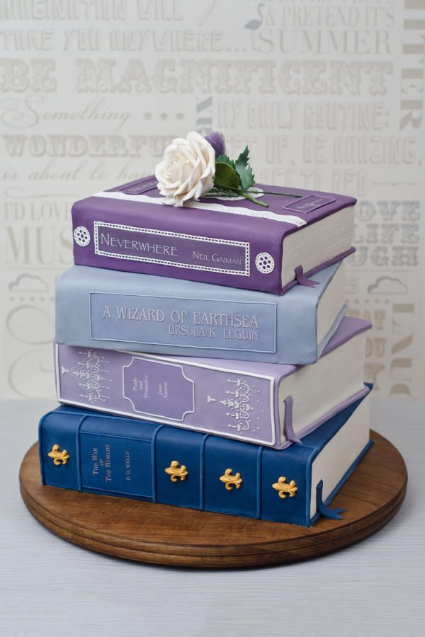 Stack of Books Wedding Cake - Cake by Joanna Rose
