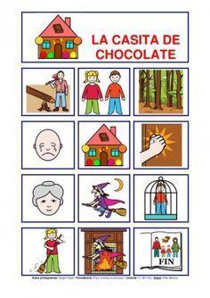 Cuentos con  pictogramas. La casita de chocolate . Hay algunos más en Orientación Andújar.