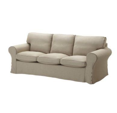 ikea 3er sofa ektorp mit risane natur bezug in frankfurt main